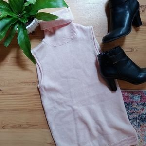 Tops - 3 for $12 small pink sleeveless turtle neck